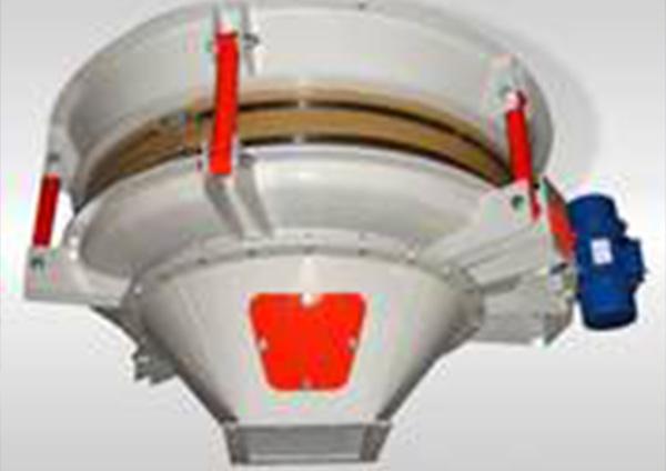 Austragsvorrichtung Materiallager mit Außen-Vibrationsmotor